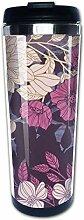 Reisekaffeetasse Blumenbild Edelstahl Isolierte