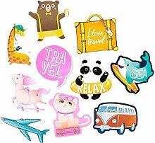 Reisende, Koffer-Aufkleber, Planer Sticker Pack