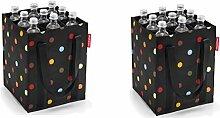 reisenthel 2er Set Flaschenträger/bottlebag (dots)