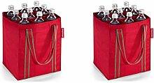 reisenthel 2er Set Flaschenträger/bottlebag (rot)
