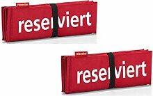 reisenthel Sitzkissen/seatpad Set (2er Set, Rot)