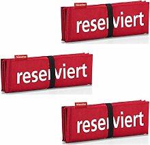 reisenthel Sitzkissen/seatpad Set (3er Set, Rot)