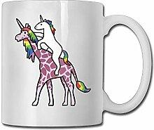 Reiten Girafficorn Fashion Coffee Cup Porzellan