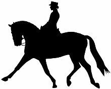 """Reiten Wand Aufkleber Aufkleber 2–Aufkleber Aufkleber und Wandbild für Kinder Jungen Mädchen- und Schlafzimmer. Reiten Racing Art Wand für Home Decor und Dekoration–Equestrian Silhouette Wandbild, Vinyl, schwarz, 24 in. (24""""W x 19.4""""H)"""