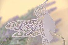 reixus Card (TM) 20pcs Bella Vogel fliegen Tasse des Wein-Glas-Papier für die Party/Dekoration der Tabelle/Home Decor Name Ort Karten [violett] weiß