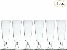 Rejoicing Einweg-Hartplastik Sektglas Rotweinglas