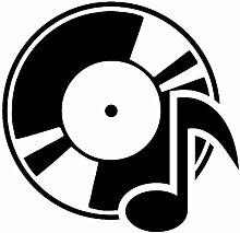 Rekord Aufkleber Notiz Vinyl Wandtattoo Album
