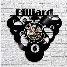 Rekord Wanduhr Billardkugel Pool CD Rekord Mode