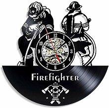 Rekord Wanduhr Feuerwehr 3D handgemachte CD Rekord