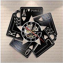 Rekord Wanduhr Pokerraum CD Rekord Mode Kunst