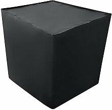 REKUBIK IBC Schutzhülle UV-Folie geschlossen in Schwarz Tankgröße 800l IBC (120x80x116cm)