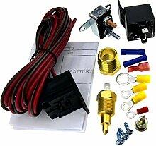 Relais 5pin Set 200-185Grad Thermostat Elektrolüfter Kühler Radiator Ventilator