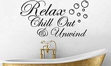 Relax Chill Out & Unwind und Blasen Spruch Spruch