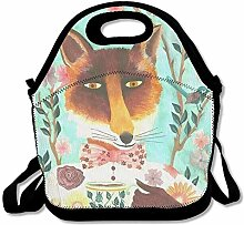 Relax Fox Lunch Bag Lunch Tote Bag Travel School