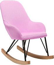 Relax-Sessel - Baby-Schaukelstuhl Stoff Rosa