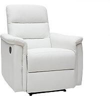 Relax-Sessel manuell verstellbar Weiß MANDALA