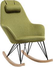 Relax-Sessel - Schaukelstuhl Stoff Grün Füße
