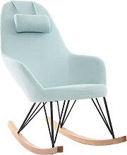 Relax-Sessel - Schaukelstuhl Stoff Meeresgrün