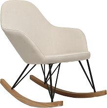 Relax-Sessel - Schaukelstuhl Stoff naturfarben