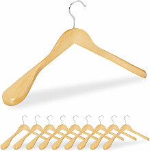 Relaxdays - 10 x Anzug Kleiderbügel im Set,