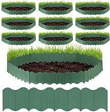 Relaxdays 10 x Rasenkante Kunststoff,
