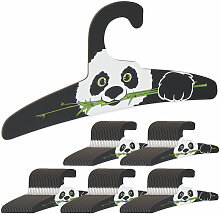 Relaxdays - 100 x Kinderkleiderbügel, Panda
