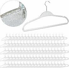 Relaxdays - 100 x Kleiderbügel Glitzer Design,