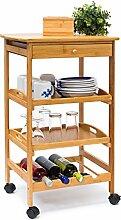 Relaxdays 10019166 Küchenrollwagen James L HxBxT: