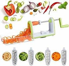 Relaxdays 10024689 Gemüse Spiralschneider,