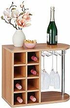 Relaxdays 10028073_93 Weinflaschenhalter, groß,