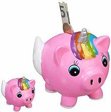 Relaxdays 2 x Spardose Schweinhorn,