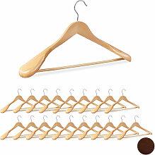 Relaxdays - 20 x Anzug Kleiderbügel im Set,