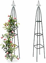 Relaxdays 2X Rankturm, Garten Obelisk,