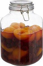 Relaxdays 3 Liter Einmachglas, zum Konservieren,