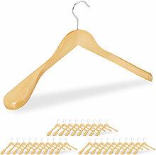 Relaxdays - 30 x Anzug Kleiderbügel im Set,