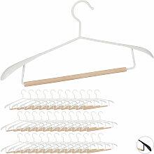 Relaxdays - 36 x Kleiderbügel im Set, breite