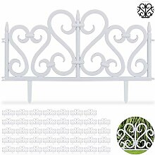 Relaxdays 40 TLG. Beetzaun Set, dekorativer