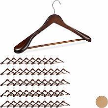 Relaxdays - 50 x Anzug Kleiderbügel im Set,