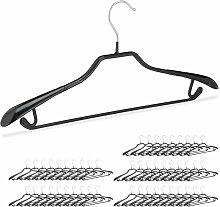 Relaxdays - 50 x Kleiderbügel für Anzüge,