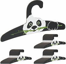 Relaxdays - 60 x Kinderkleiderbügel, Panda