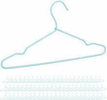 Relaxdays - 72 x Bezogene Kleiderbügel im Set,