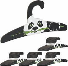Relaxdays - 80 x Kinderkleiderbügel, Panda