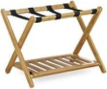 relaxdays Ablagetisch Kofferständer Bambus mit