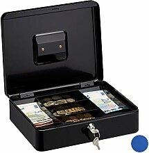 Relaxdays Abschließbare Geldkassette, Große