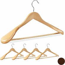 Relaxdays - Anzug Kleiderbügel, 5er Set, breite