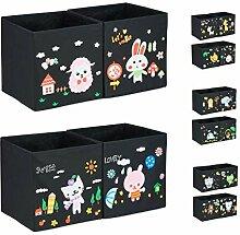 Relaxdays Aufbewahrungsboxen Kinder, 4er Set, DIY