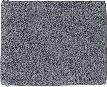 Relaxdays Badteppich 40 x 50 cm, Badematte waschbar, Badvorleger für Fußbodenheizung, grau