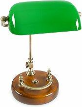 Relaxdays Bankerlampe grün mit verziertem