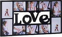 Relaxdays Bilderrahmen Collage LOVE, Fotorahmen 10