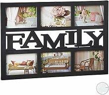 Relaxdays Bilderrahmen Family, Fotorahmen 6